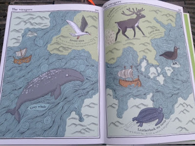 illustrated map of voyaging animals
