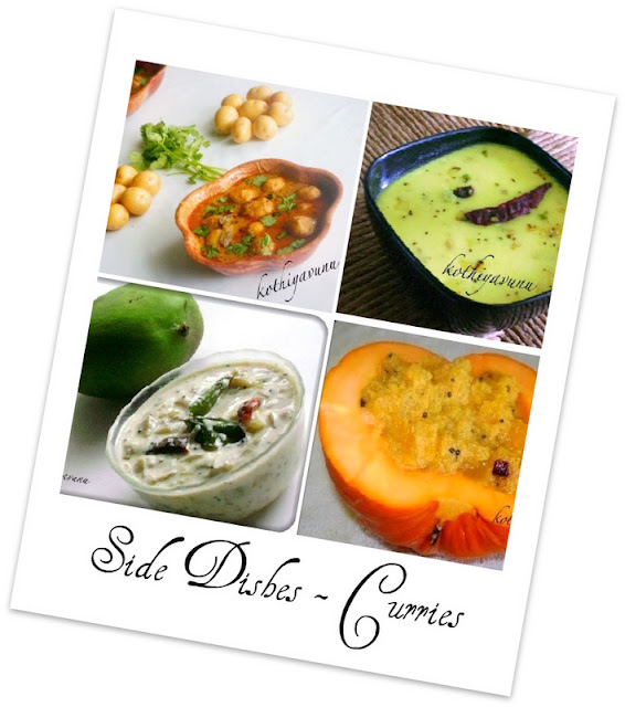 Veg-Recipes -Side Dishes - Curries |kothiyavunu.com