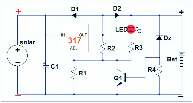 Electronic circuits transformerless power supply led drivers our charger circuit will work only when the voltage level from the solar panel is much higher than the battery voltage unlike the solar charger with swarovskicordoba Image collections