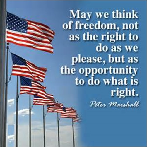 Fourth of July Quote - Peter Marshall