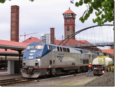 IMG_0740 Amtrak P42DC #119 at Union Station in Portland, Oregon on May 10, 2008