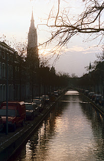 Canal in Delft, The Netherlands.