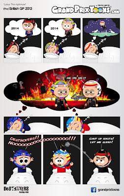 комикс Grand Prix Toons перед Гран-при Великобритании 2013