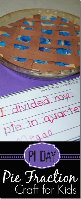 Pi Day Activities - Pie Fraction Craft for Kids