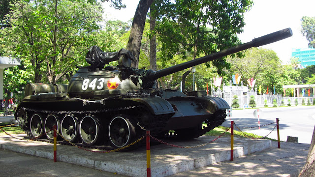 Replica of the tank that ended the Vietnam War.