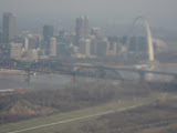 The St Louis Arch from our plane 03192011c