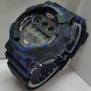 jam tangan C-Shock digital doreng biru WR