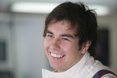 улыбка Серхио Переса на Гран-при Венгрии 2011