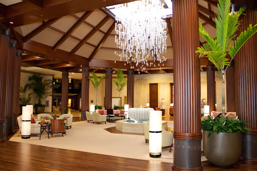 Lobby facing front desk area