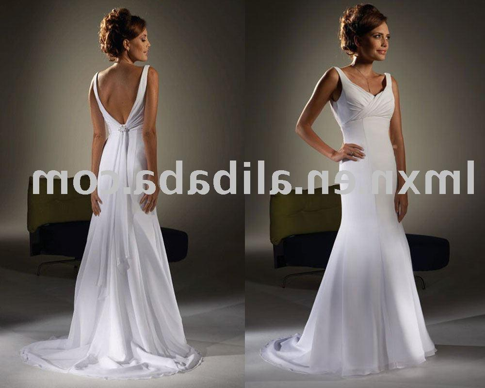 2011 wholesales free shipping New fashion White chiffon Wedding dress