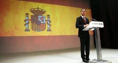 Pedro Sánchez y la bandera