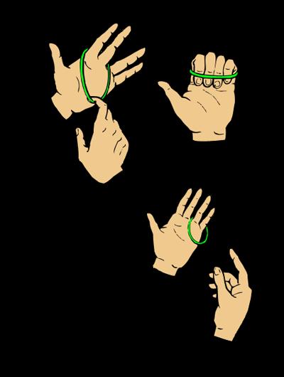 Как сделать фокус резинкой