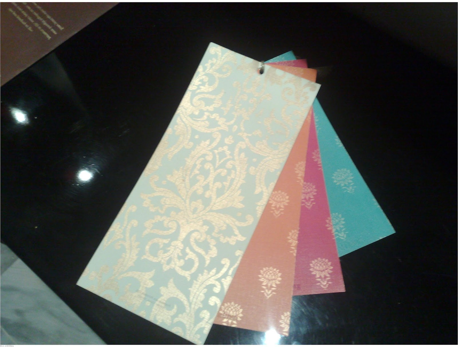 with there wedding cards
