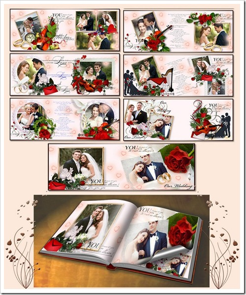 Stylish Wedding Album Templates