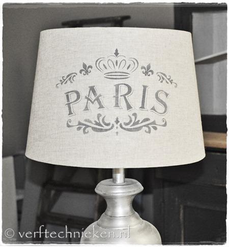 verftechnieken.nl Lampenkap Paris