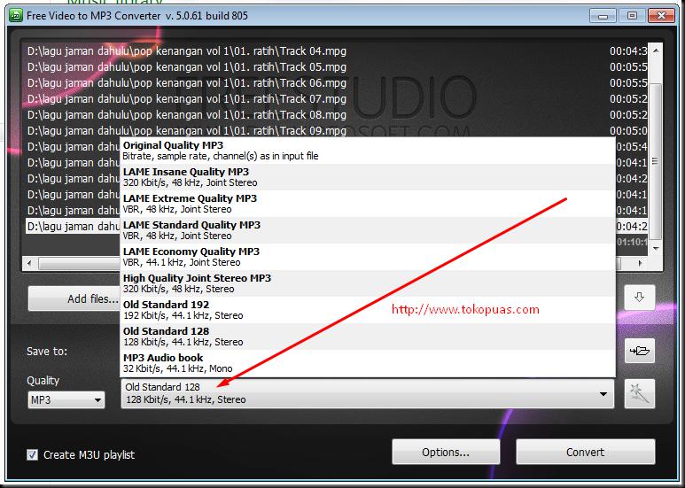 cara merubah semua format video menjadi mp3