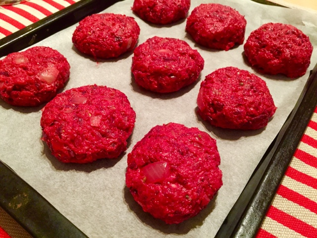 Biff à la Lindström - beetroot beef burgers the Swedish way