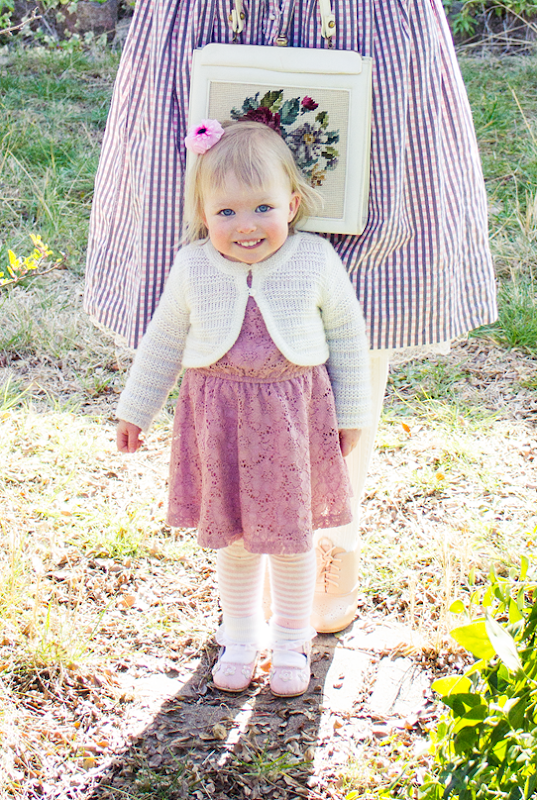 My little girl wearing her Sunday best | Lavender & Twill