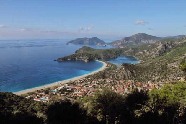 Oludeniz view at the start of the Lycian way