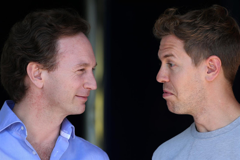 Кристиан Хорнер и Себастьян Феттель not bad на Гран-при Австралии 2013
