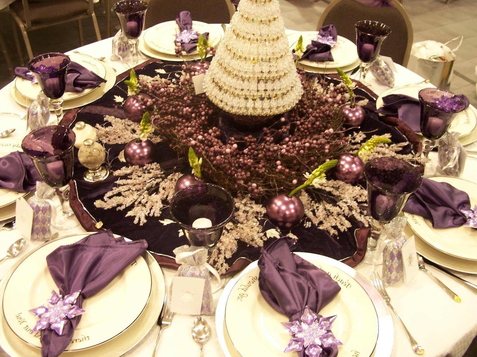 These fabulous table settings