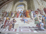 Raphael's masterpiece, The School of Athens, in the Raphael Rooms in the Vatican