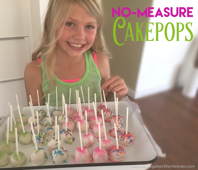 Easy, no-measure cakepops that kids can make