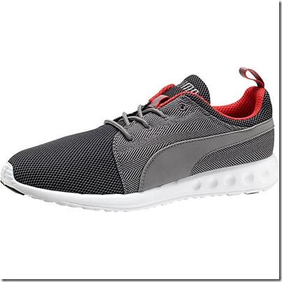Puma Carson Runner Herring Men Running Shoes - black-steel gray-high risk red USD 65.00