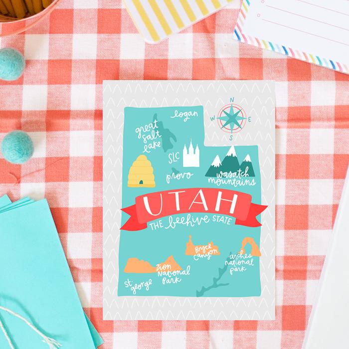 Utah Map - Alexa Z Design