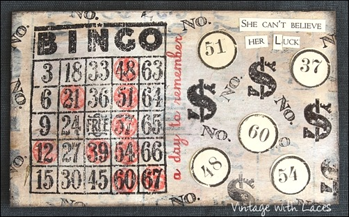 ICAD - Bingo by Vintage with Laces