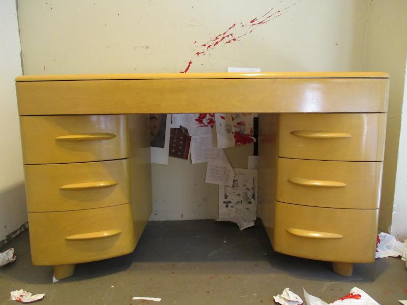 Mid Century Hey Wood Wakefield  Style Desk