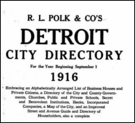 Detroit directory title page
