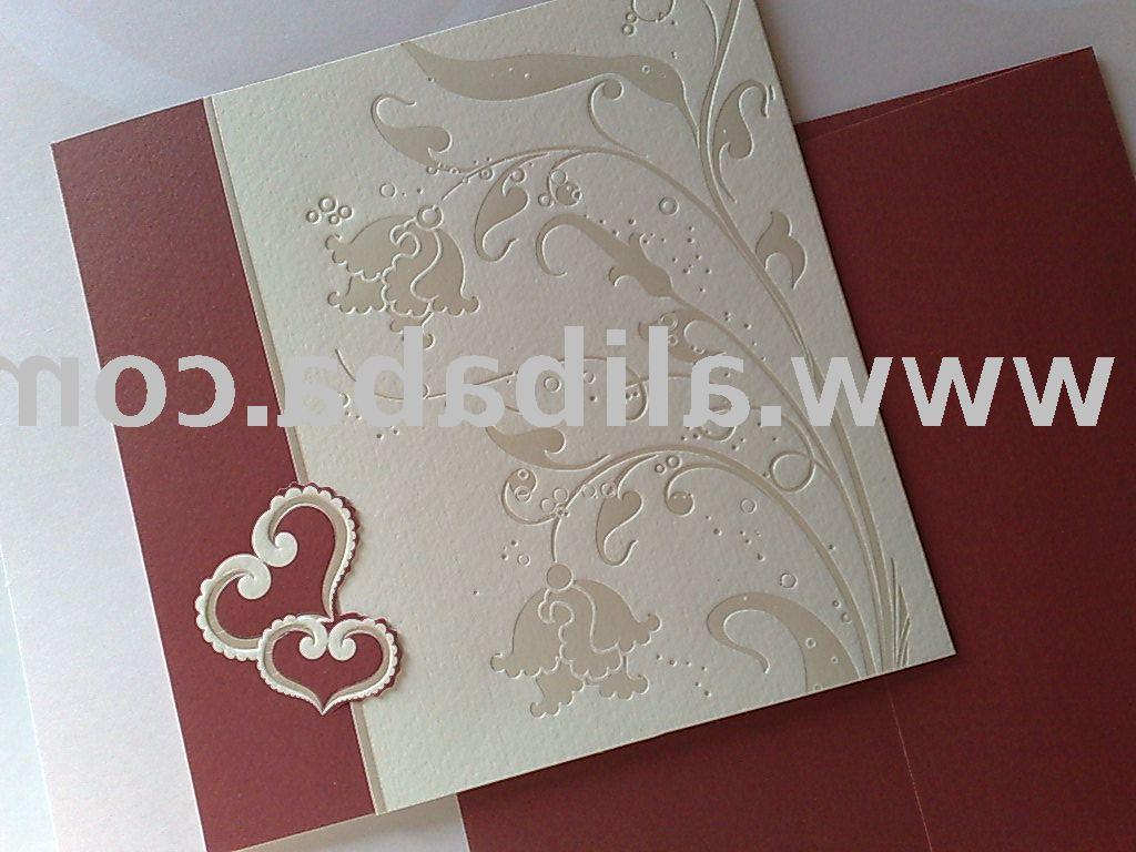 Pocket fold invites provide an