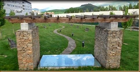 Parque de Beriáin donde estaba la necrópolis de San Esteban