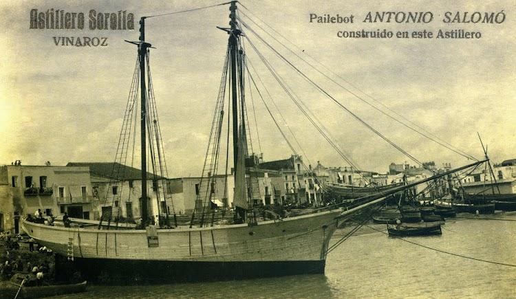El ANTONIO SALOMO llevaba el nombre del fundador de la saga. Foto del libro Esplendor y Declive Economico de Vinaros. (1875-1931).jpg