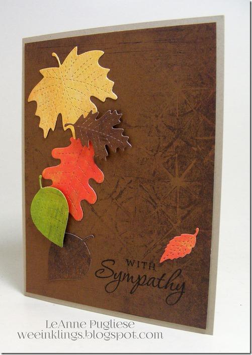 LeAnne Pugliese WeeInklings Leafy Sympathy Paper Pumpkin
