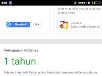 Satu Tahun Bersama Google AdSense