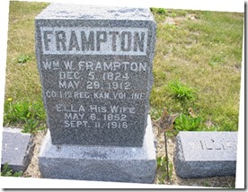 FRAMPTON_William W_headstone with Wife Ella_DeSotoCem_JohnsonCo_Kansas