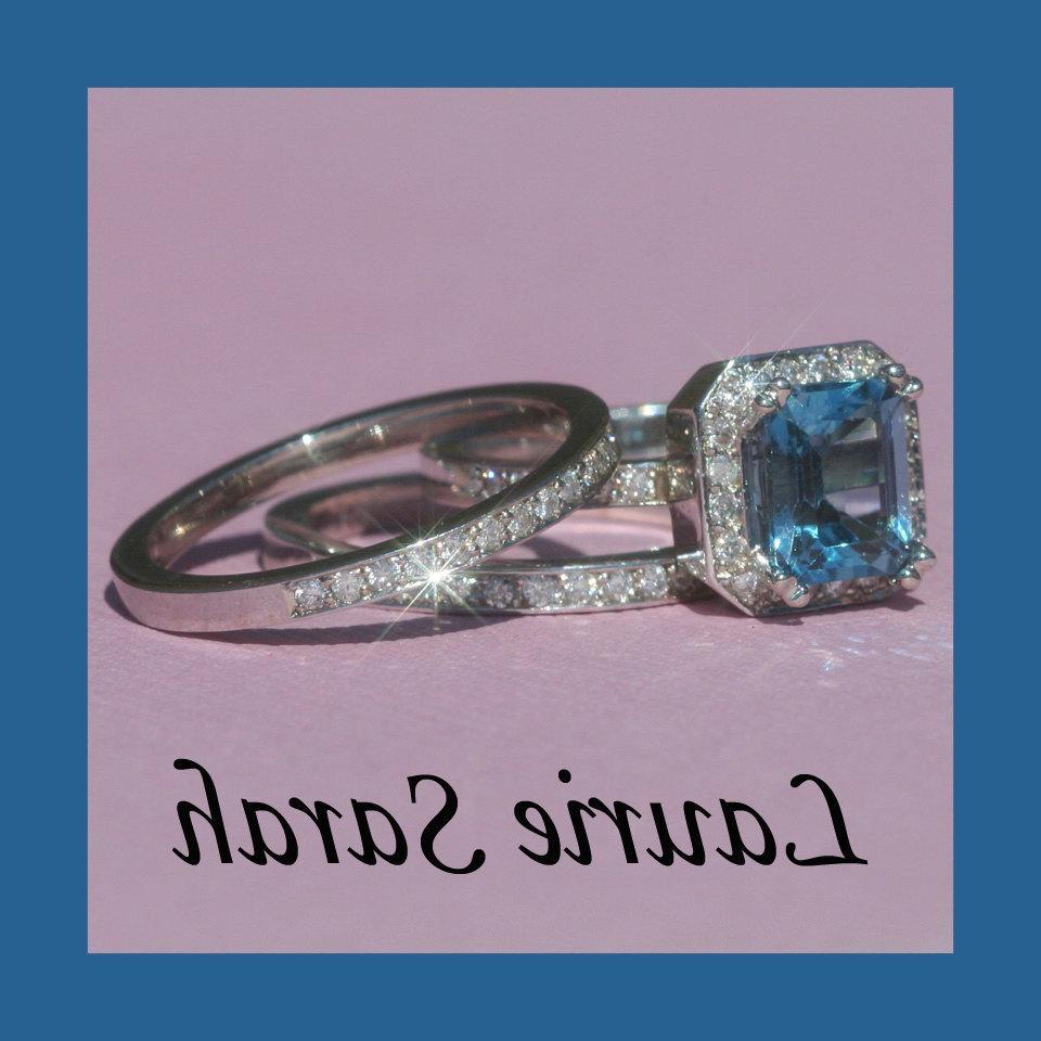 Emerald Cut Blue Topaz and