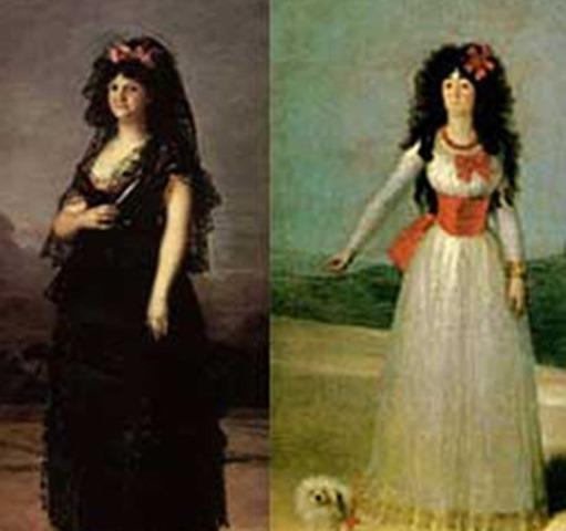 María Luisa de Parma y la Duquesa de Alba, cuadros de Francisco de Goya