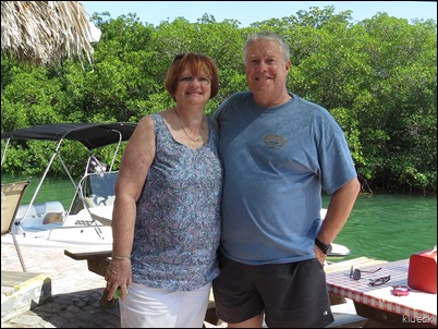 Paul and Marti Dahl at Geiger Key