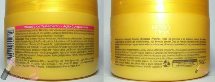 mascara de tratamento skafe keramax hidrataçao profunda carga maxima de queratina oleo de argan absinto