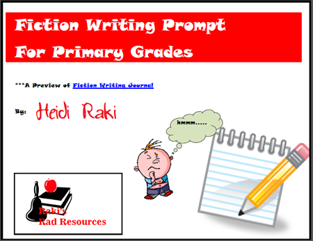 Free download - fiction writng prompt to take students through the entire writing process when focused on fiction writing.