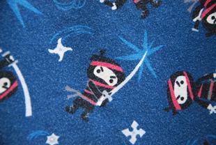 ninja fabric navy