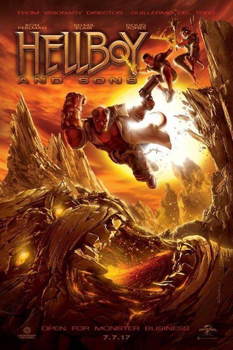 Hellboy III Fanart Poster by Rob Csiki