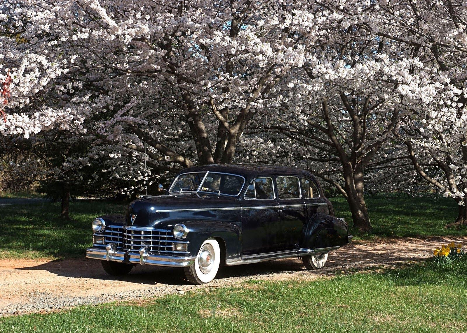 blue 1948 Cadillac.