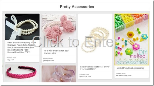 Pretty Accessories Pinboard