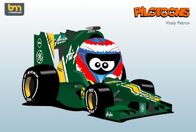 Виталий Петров Caterham CT01 pilotoons 2012