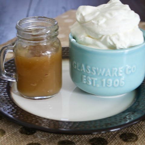 Whipped Cream and Caramel Sauce