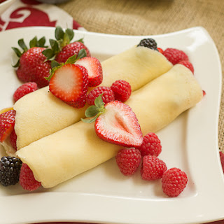Brown Butter Crêpes with Berries and Cheesecake Filling